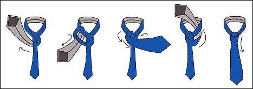 Схемы как завязывать галстуки